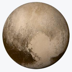 Pluto, fotografiert von der Raumsonde New Horizon am 27. Juli 2015, 14h